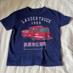 Toddler 18-24 month fire truck tshirt Gap
